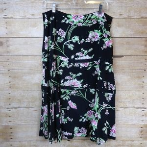 CAbi Full Floral Rayon Skirt - size 8